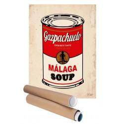 Lámina decorativa Málaga Soup Gazpachuelo