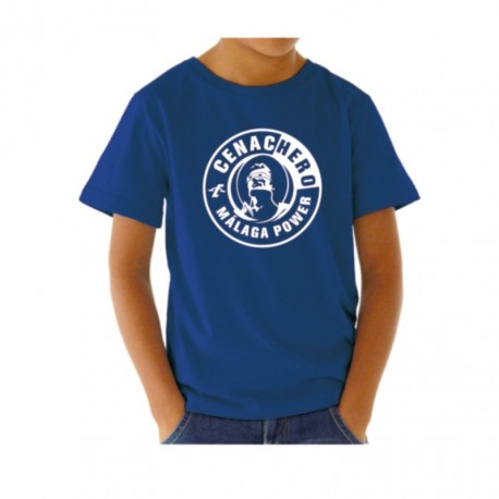 Camiseta divertida para niño Málaga Power