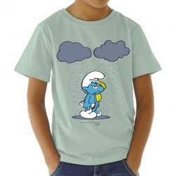Camiseta infantil nube doble con pitufo mixto