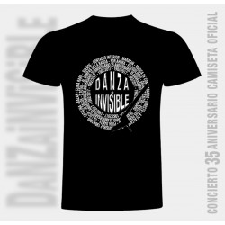 Camiseta hombre discografía completa de Danza Invisible