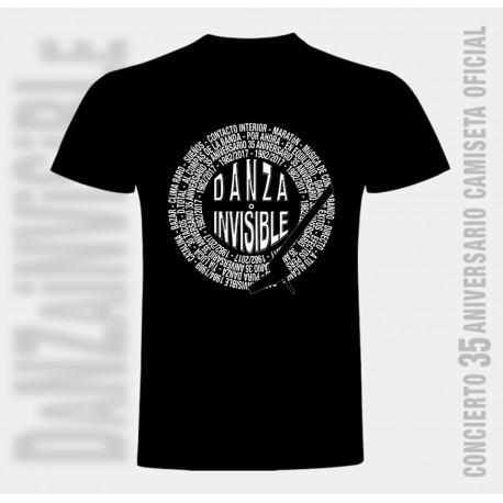 Camiseta discografía completa de Danza Invisible para hombre