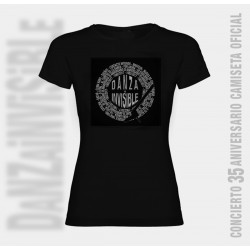 Camiseta Danza Invisible discografía completa para mujer