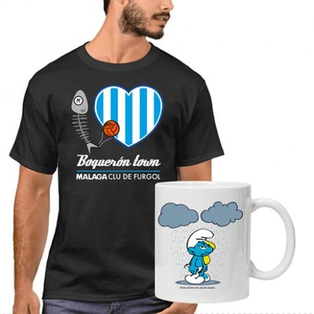 Camiseta hombre boqueron clu de furgo + Taza Pitufo