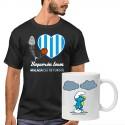 Camiseta hombre + Taza Pitufo